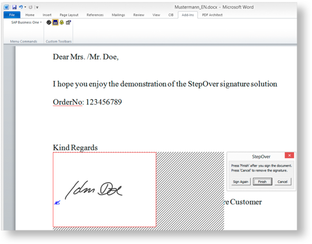how to create an electronic signature in word